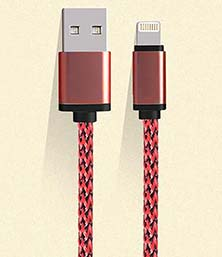 2A USB Weave Lightning Data Cable Charger Compatible for Apple iPhone 5/5c/5s/iPad Air/iPad Air 2/iPad mini 2
